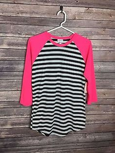 LuLaRoe Small Randy HTF ***UNICORN*** Hot Pink & Striped Blk/Wht | Clothing, Shoes & Accessories, Women's Clothing, Tops & Blouses | eBay!