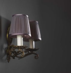 Littleton - soft pleated in violet. Suitable for wall lights and #chandelier #shades