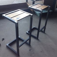 Reclaimed Wood Stools Set of Two by LAMDesignStudios on Etsy
