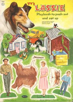 LASSIE play book cover *** Paper dolls for Pinterest friends, 1500 free paper dolls at Arielle Gabriel's International Paper Doll Society, writer The Goddess of Mercy & The Dept of Miracles, publisher QuanYin5
