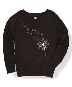 Look at this Black Dandelion Seeds Sweatshirt on #zulily today!