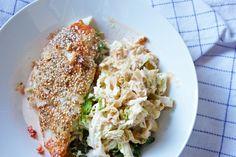 Bagt fisk med savoykål og krydret flødesovs