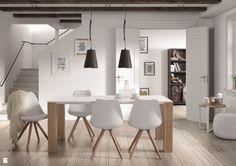 Jadalnia w bieli i drewnie - zdjęcie od Le Pukka concept store - Jadalnia - Styl Skandynawski - Le Pukka concept store