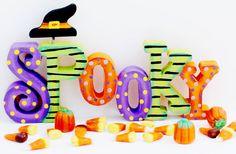 Spooky Word Art project from DecoArt