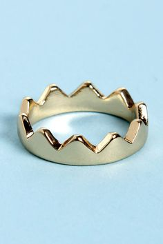 Pretty Gold Knuckle Ring - Crown Ring - $9.00