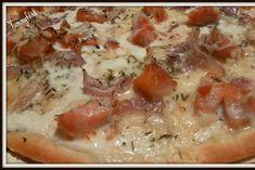 Recette de Pizza saumon fumé et crème fraiche : la recette facile