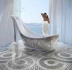 Litt av et badekar