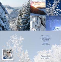 Kerst- en nieuwjaarskaart, zowel voor-  achter als binnen voorzien van mooie winterfoto's | http://www.kerstkaartensturen.nl/kerstkaarten/kerst-klassiek/