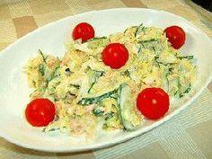 cucumber tuna coleslaw ツナとキュウリのコールスローサラダ (cabbage, cucumber, tuna, cherry tomato)