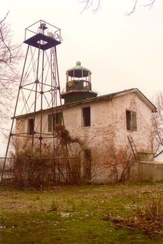Fishing Battery Lighthouse, Fishing Battery Island, 3 miles south of Havre De Grace