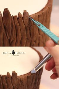 Tutorial - pastel de arbol con chocolate para modelar