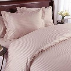 """1200 Thread Count Full Siberian Goose Down Comforter 8 PC 1200TC Bed in a Bag, Pink Damask Stripe 1200 TC by Egyptian Linens. $279.99. Beautiful Duvet Set (1 Duvet Cover, 2 Shams). Brand New and Factory Sealed.. True baffle box design to keep the down in place. 1 Flat Sheet (86"""" x 96""""), 1 Fitted Sheet (54"""" x 75"""") and 2 Standard Pillow Cases (20"""" x 30""""). Luxury White Siberian Goose Down Comforter (86X86 Inches). This Luxury 8-Piece Bed in a Bag Siberian Goose Down Comforter S..."""