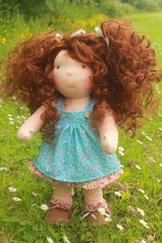 Waldorf inspired doll called Kira by louisejedi