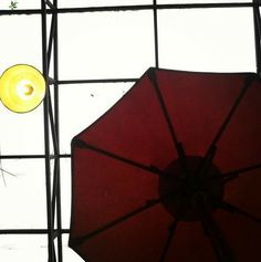 Just an ordinary umbrella and lamp. It's so simple but if you look carefully it's full meaning of life