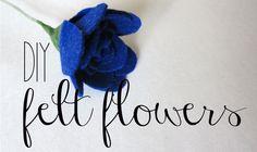 DIY Felt Flower Tutorial via Spoonful of Imagination