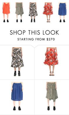 """5 bright skirts for the summer"" by svmoscow ❤ liked on Polyvore featuring Marni, Simone Rocha, Comme des Garçons and DAMIR DOMA"