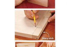 Make precise marks with a sharp pencil