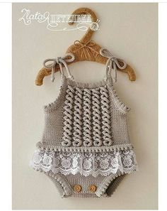 Embroidered Baby Vest Making - Babykleidung Baby Knitting Patterns, Toddler Dress Patterns, Knitting For Kids, Crochet For Kids, Baby Patterns, Baby Romper Pattern Free, Crochet Baby Dress Pattern, Knit Baby Dress, Free Pattern
