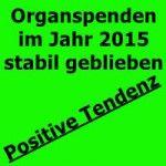 Organspenden im Jahr 2015 stabil geblieben / Positive Tendenz  Im Jahr 2015 ist die Zahl der Organspender bundesweit um 1,5 Prozent von 864 im Vorjahr auf 877 leicht angestiegen. Insgesamt kamen in Deutschland 10,8 Spender auf eine Million Einwohner (2014: 10,7). Damit zeigt sich ...BITTE WEITERLESEN  http://peter-wuttke.de/organspenden-im-jahr-2015-stabil-geblieben-positive-tendenz/