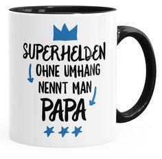 Superhelden ohne Umhang nennt man Papa Kaffee-Tasse Teetasse Keramiktasse MoonWorks®