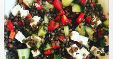 Salade de lentille à la Grecque légumineuse légumes fromage