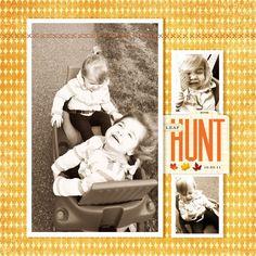 Digital Scrapbook Layout | Leaf Hunt