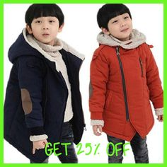 New 2017 Kids Boys winter child thickening Hooded wadded jacket outerwear plus velvet cotton-padded coats 6 7 8 9 10 years old