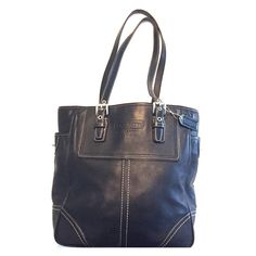 "Coach Black Leather Legacy Classic Handbag, This beautiful, soft leather handbag is 10""x13"" with a 10"" strap drop. Gently used. Smoke free home. You'll love this bag! Coach Bags Shoulder Bags"