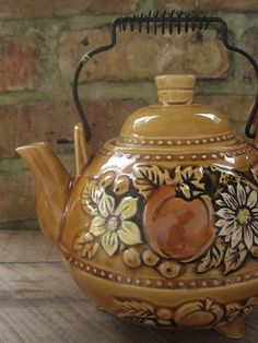 Tea Pot Trends | Items similar to Fall Autumn Caramel Colored Teapot on Etsy