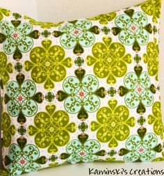 Pillow Cover, 18 x 18 inch by KaminskisCreations on Etsy https://www.etsy.com/listing/174752303/pillow-cover-18-x-18-inch