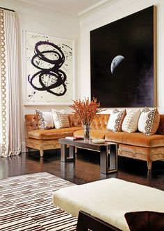 A New York living room by Christina Murphy   http://archdigest.com