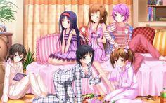 Sinon, Leafa, Silica, Lizbeth, Yuuki and Asuna