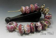 SRA HANDMADE LAMPWORK Glas Bead Set Donna Millard von DonnaMillard