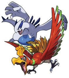 View an image titled 'Ho-Oh & Lugia Art' in our Pokémon Ultra Sun and Ultra Moon art gallery featuring official character designs, concept art, and promo pictures. Gold Pokemon, Pokemon Fan Art, Ho Ho Pokemon, Pokemon Tattoo, Entei Pokemon, Flying Type Pokemon, Digimon Wallpaper, Deadpool Pikachu, Cool Pokemon Wallpapers