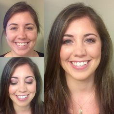 Before and after makeup for Lexi attending a special event.