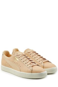PUMA Clyde Leather Sneakers. #puma #shoes #