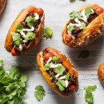 Mini hot dog s trhaným hovädzím mäsom