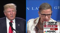 Justice Ruth Bader Ginsburg walked back her comments on Donald Trump. NBC's Irin Carmon joins to discuss.