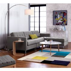 The CB2 Big Dipper Arc floor lamp offers great light in my family room and has a cool modern look.