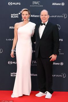 Princess Charlene and Prince Albert of Monaco were the epitome of old-school glamour as th...