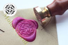 S1343 Flower Wax Seal Stamp Sealing wax stamp wax by MoldsWorld