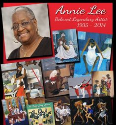 ANNIE F. LEE. Her noted ability to convey feelings through the faceless subjects of her paintings has won her a place in history as one of the icons of African American art.  When several of her paintings appeared on the sets of popular television shows such as The Cosby Show and A Different World, the exposure helped popularize her work. Read more about Annie Lee here: http://tomjoynerfoundation.org/art-gallery/annie-lee/