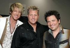 Love every song that Rascal Flatts does. MY FAVORITE GROUP !!  Rascal Flatts is an American country rock/pop country band founded in Columbus, Ohio. (Which by the way is my home State! and I was just 30 min drive just south of Columbus, Ohio )   Since its inception, Rascal Flatts has been composed of three members: Gary Levox (lead vocals), Jay Demarcus (bass guitar, keyboards, vocals), and Joe Don Rooney (lead guitar, vocals). DeMarcus and LeVox are also second cousins.