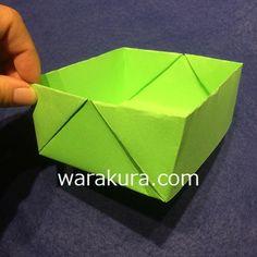 先日の幼稚園プレで教えてもらった「長方形の紙で作る「箱」の作り方」をご紹介します。チラシで作ってピーナツの殻入れなどのゴミ箱にしたり、色画用紙で作って小物入れやおままごとに使ったりと、長方形の紙で作れ、簡単なのにしっかしりた作りなので、作り方を覚えておくと便利です。