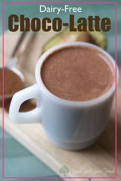 I am not a coffee drinker. But put this dairy-free choco-latte with Dandy Blend in front of me and I will drink it all. Primal Recipes, Dairy Free Recipes, Real Food Recipes, Fall Recipes, Delicious Recipes, Vegetarian Recipes, Gluten Free, Yummy Drinks, Healthy Drinks