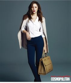 Park Si Yeon Is A Career Woman For Cosmopolitan Korea's November 2014 Issue