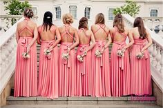Fabulous coral Pink twobirds bridesmaids' dresses    Nikki & Bruce   Coworth Park Wedding {preview} » Katy Lunsford Photography