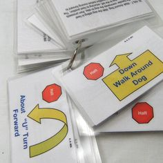 Rally Obedience Pocket Flashcards