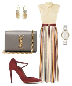 """""""Palazzo Pants"""" by arta13 ❤ liked on Polyvore featuring Issey Miyake, Maison Père, Maison Boinet, Yves Saint Laurent, Tabitha Simmons and Burberry"""