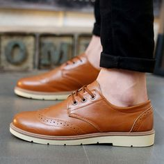 - Urban brogue style casual boots for the modern man - Classic brogue detailing…